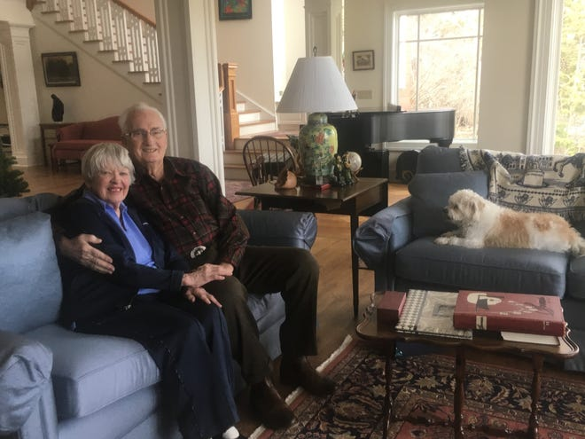 Wanda Coldiron and her husband, Arnie Coldiron, in their Aurora home. The couple has donated more than $1 million to Ohio State University for a new scholarship geared toward Fremont Ross High School students that plan to major in elementary education at the university.