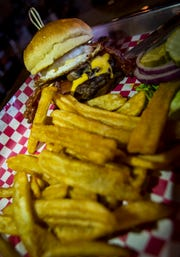 The build-your-own-burger with fries from 10 Twenty Five in downtown Fort Myers.