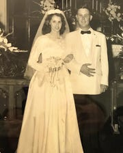 David and Connie Bull on their wedding day