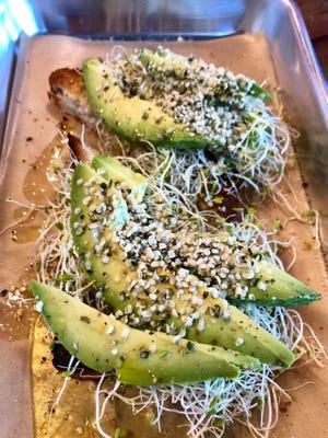 Avocado alfalfa toast ($6) from Uhmazebowls.