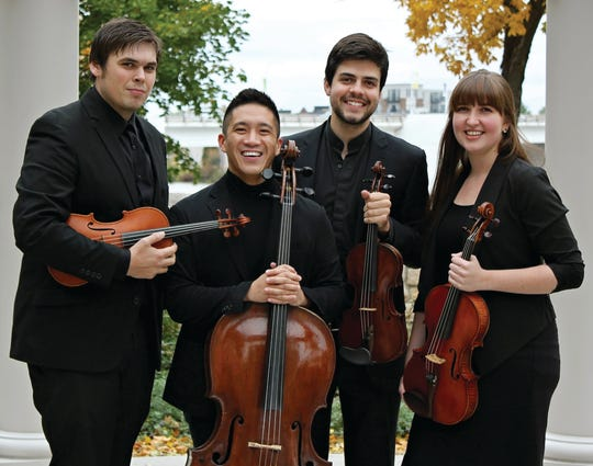 Midsummer's Music's professional resident string quartet, the Griffon String Quartet, will perform in concert on Friday at the Unitarian Universalist Fellowship in Ephraim.