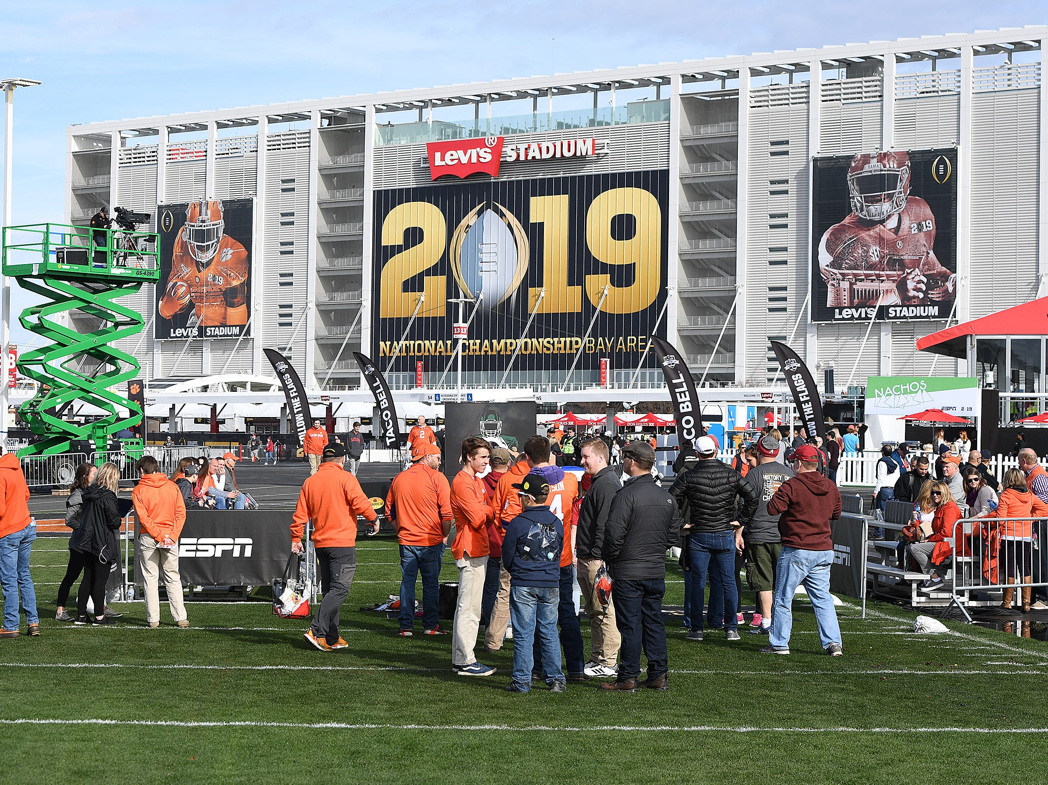 The College Football Championship Playoff Tailgate outside Levi's Stadium in Santa Clara, CA Monday, January 7, 2019.