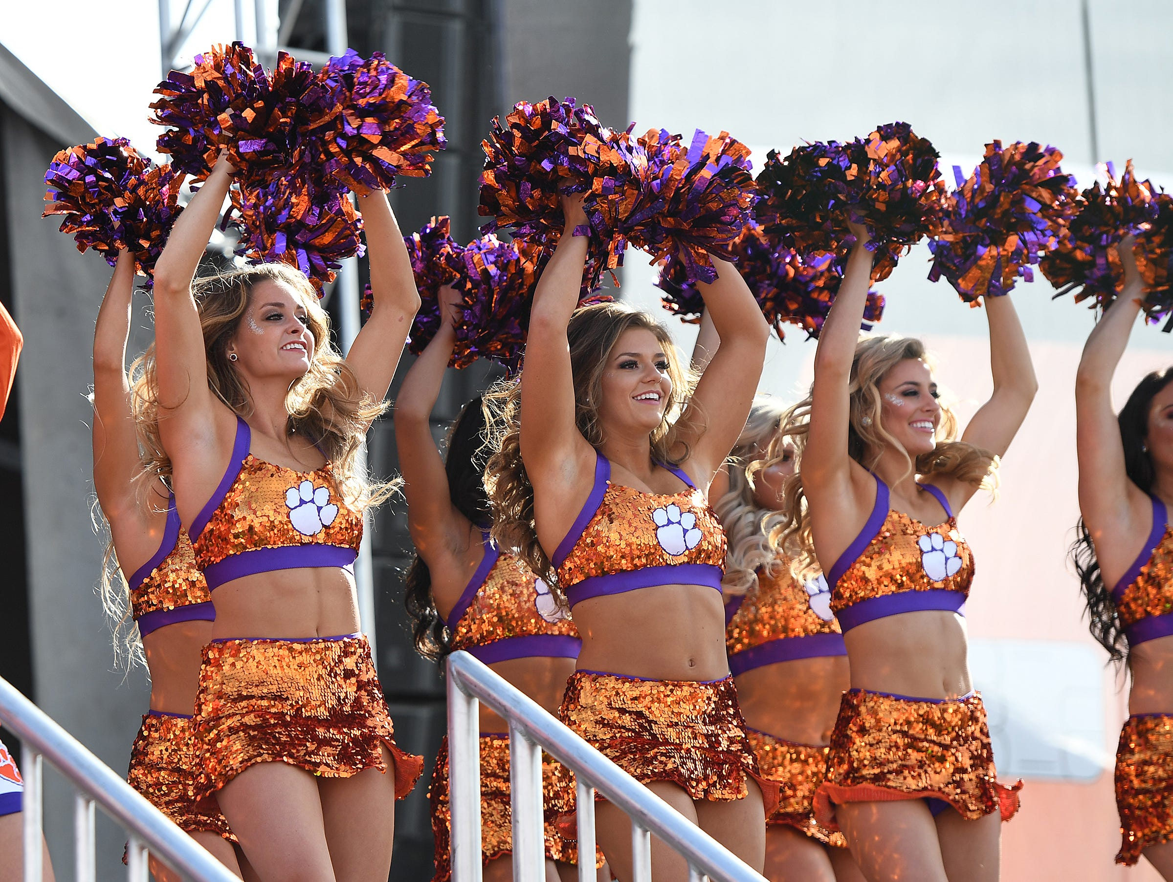 Clemson's Rally Cats during the College Football Championship Playoff Tailgate outside Levi's Stadium in Santa Clara, CA Monday, January 7, 2019.