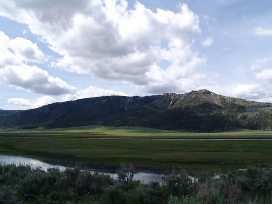 The Lamar Valley in Yellowstone National Park.