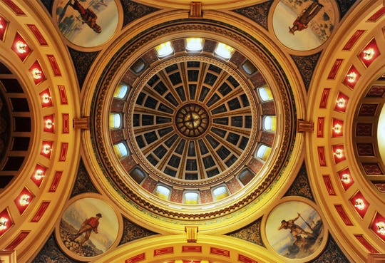 Ceiling of the State Capitol Building rotunda in Helena.