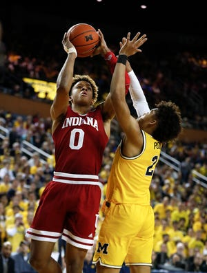 Romeo Langford leads the Hoosiers in scoring, averaging 18.2 points per game.