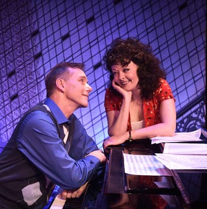 """Beef & Boards Dinner Theatre's first production of 2019 is the Neil Simon and Marvin Hamlisch comedy """"They're Playing Our Song."""" David Schmittou and Sarah Hund play composer Vernon and lyricist Sonia."""