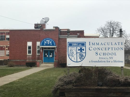 The former Immaculate Conception School may find new life as affordable housing or office space for nonprofits.