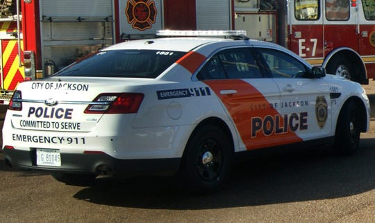 A Jackson, Miss. police car and fire truck is shown in this file photo.