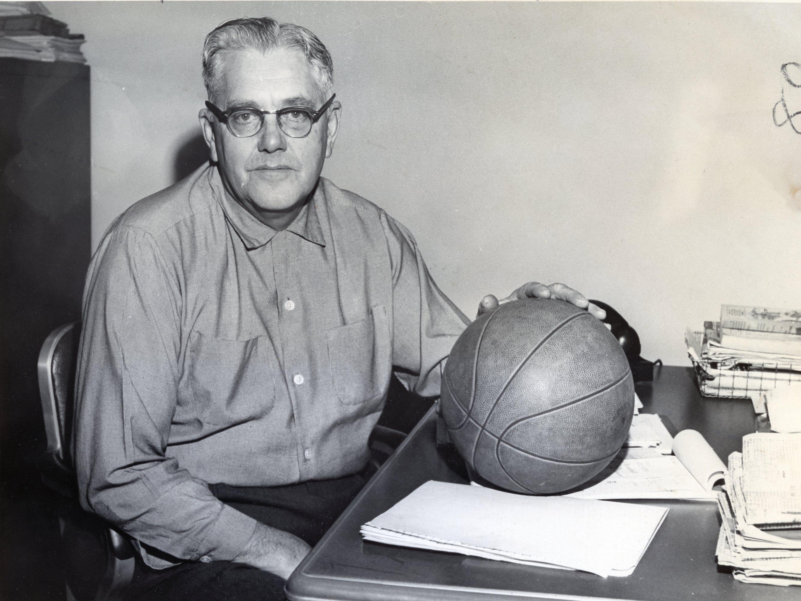 Coach John Mauer, December, 1961.