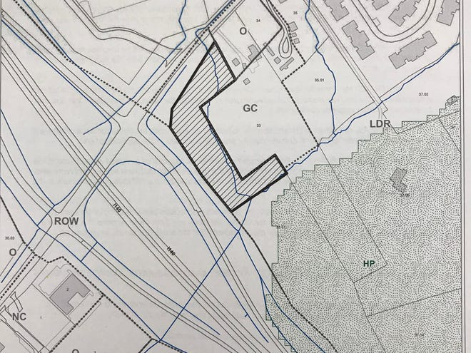 A planning commission map shows the land by Pellissippi Parkway where Preston Smith wants to build a self-storage facility.