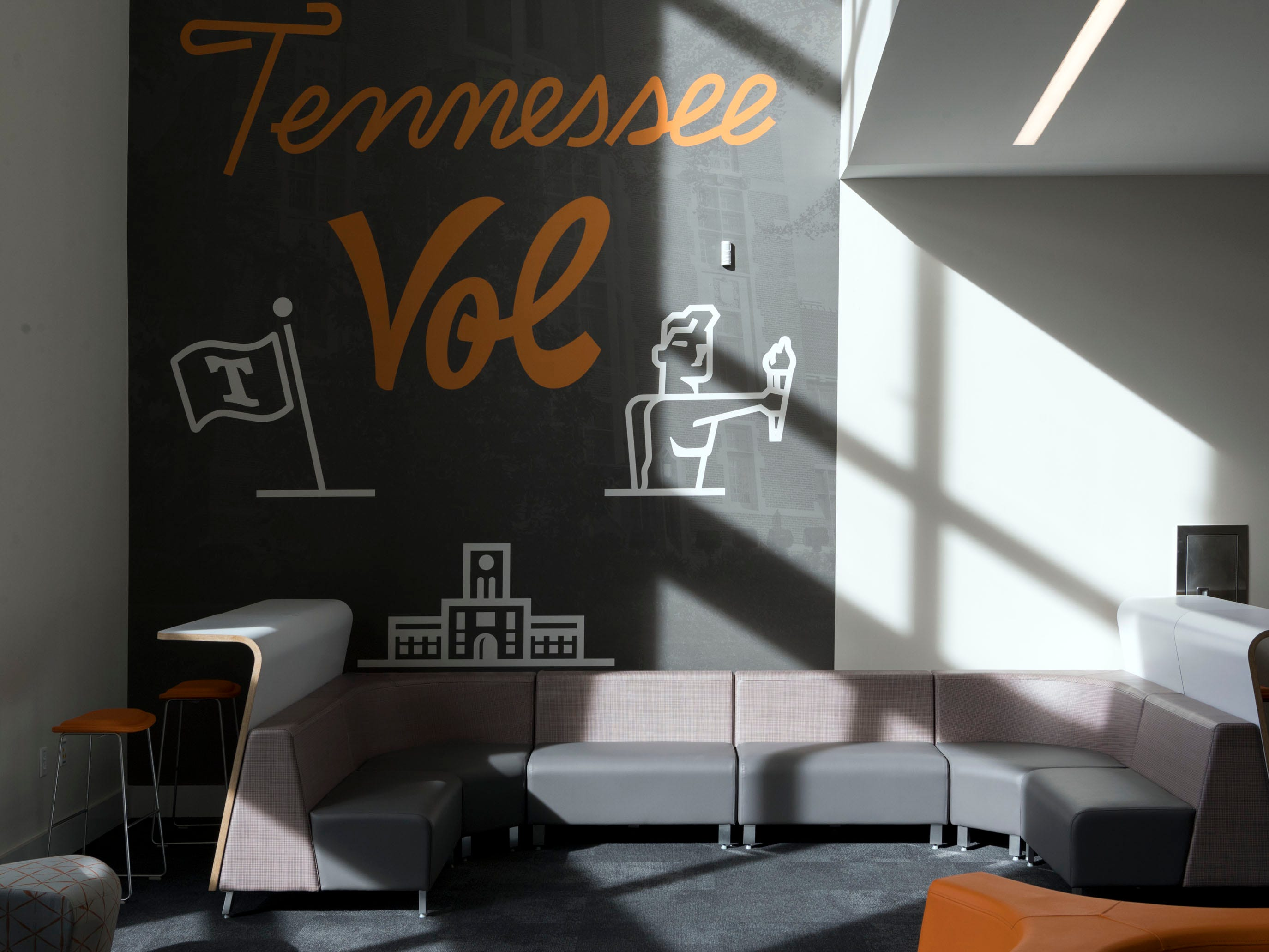 Sitting area inside University of Tennessee's Student Union on Monday, January 7, 2019.