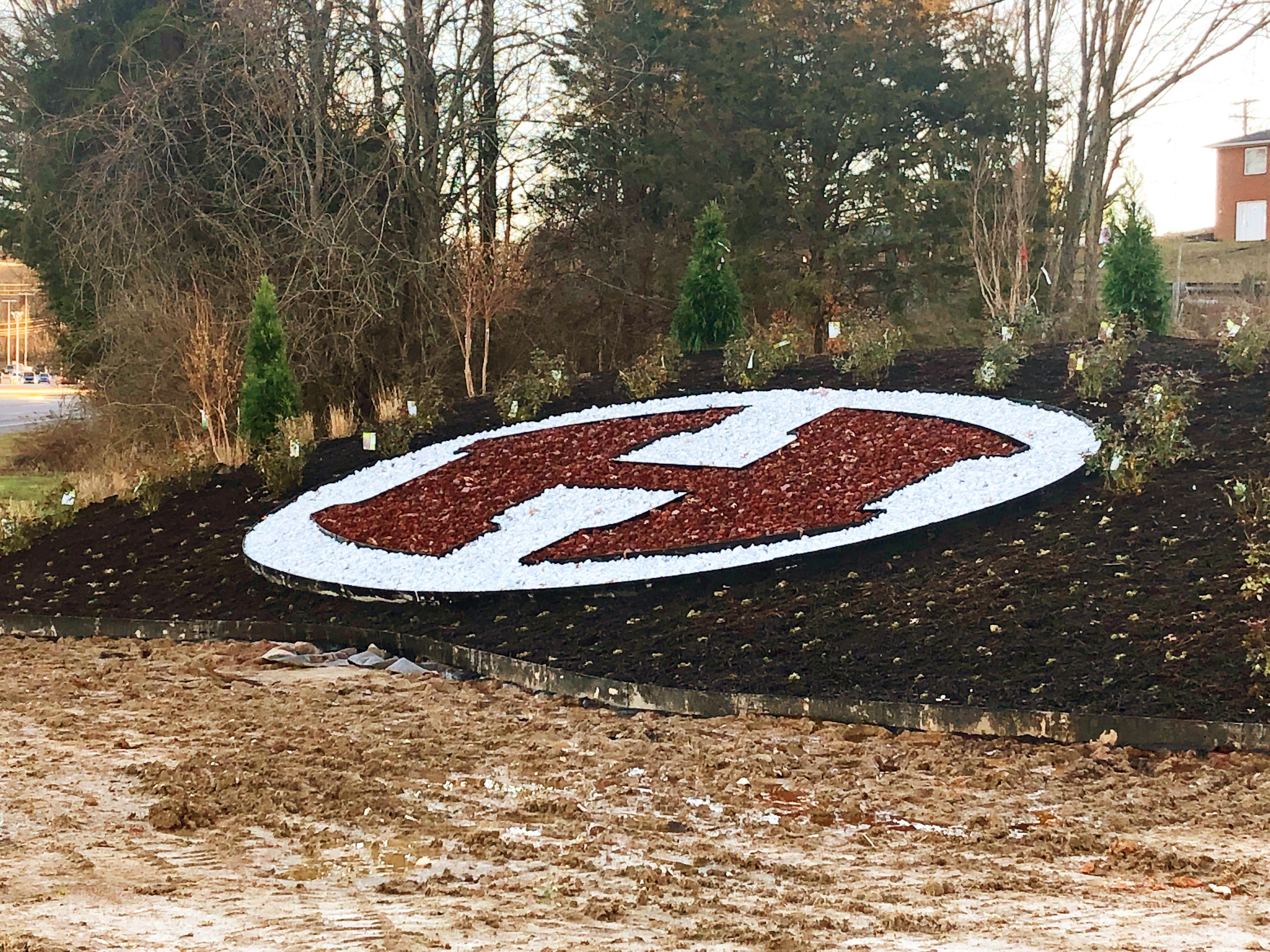 Thanks to the Halls Business and Professional Association and local businesses for this huge H, created with red mulch and rock that adorns the corner of Afton Drive and Maynardville Highway. It is a beautiful addition to the community.