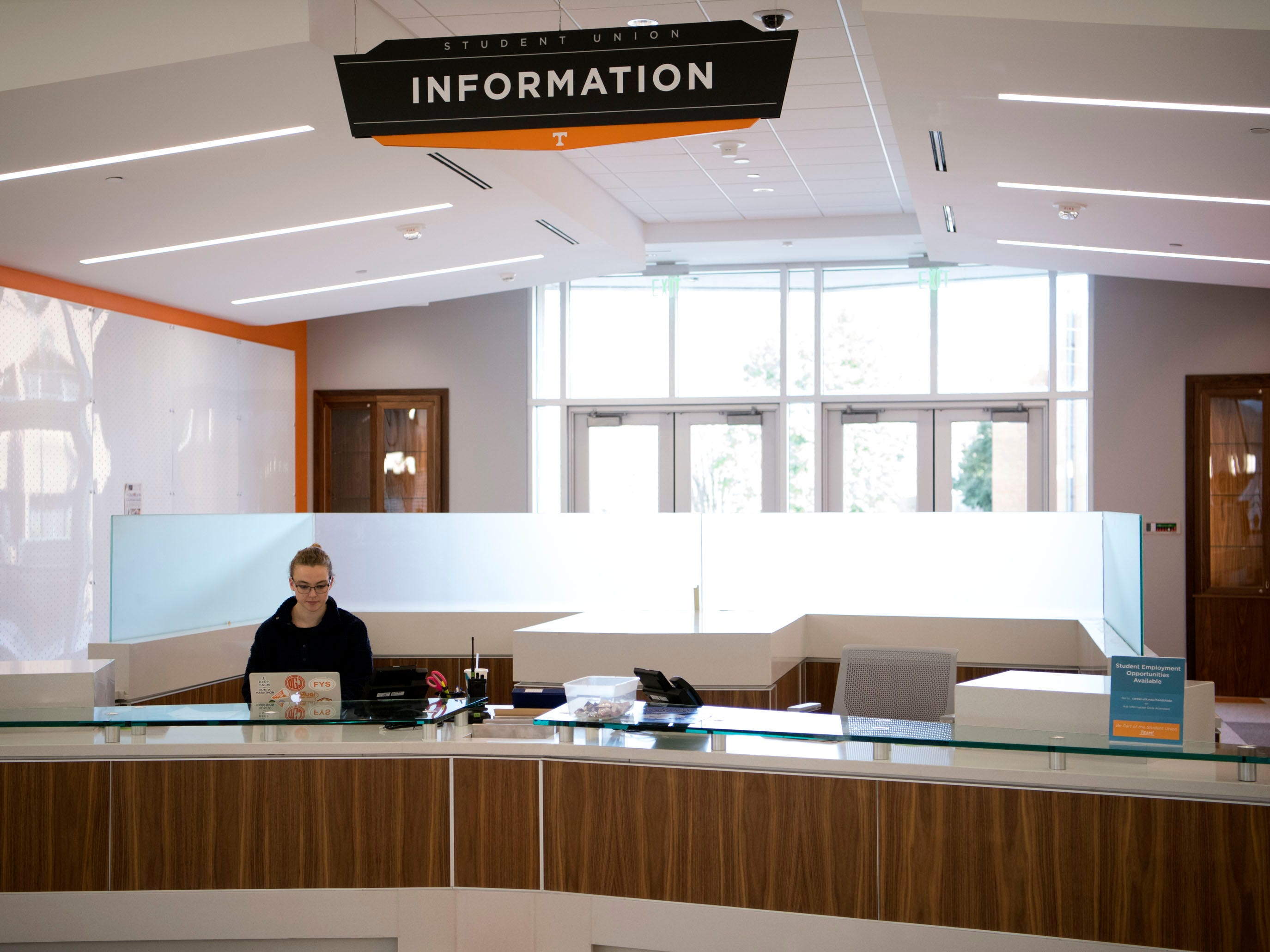 The Student Union information desk.