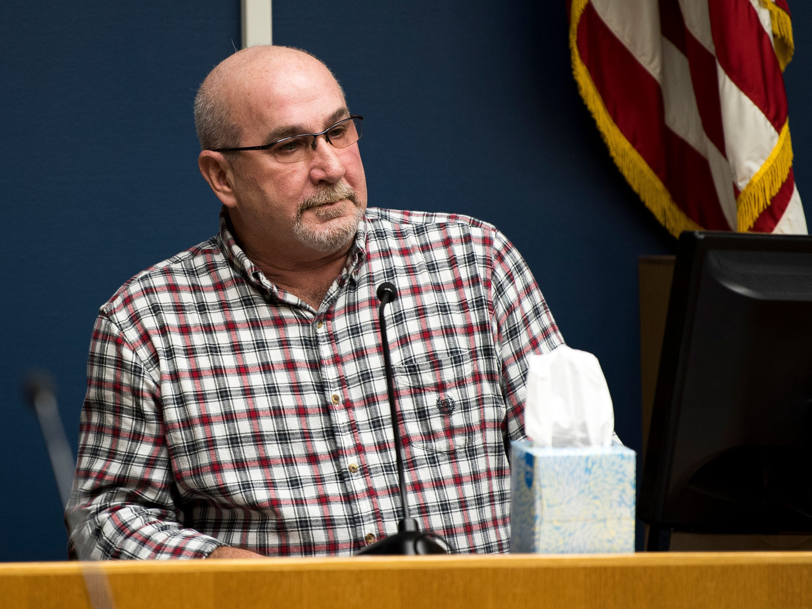 James Bradley, father of Kevin Speaks, on the stand during Ralpheal Coffey's trial in Knox County Criminal Court on Monday, January 7, 2019.