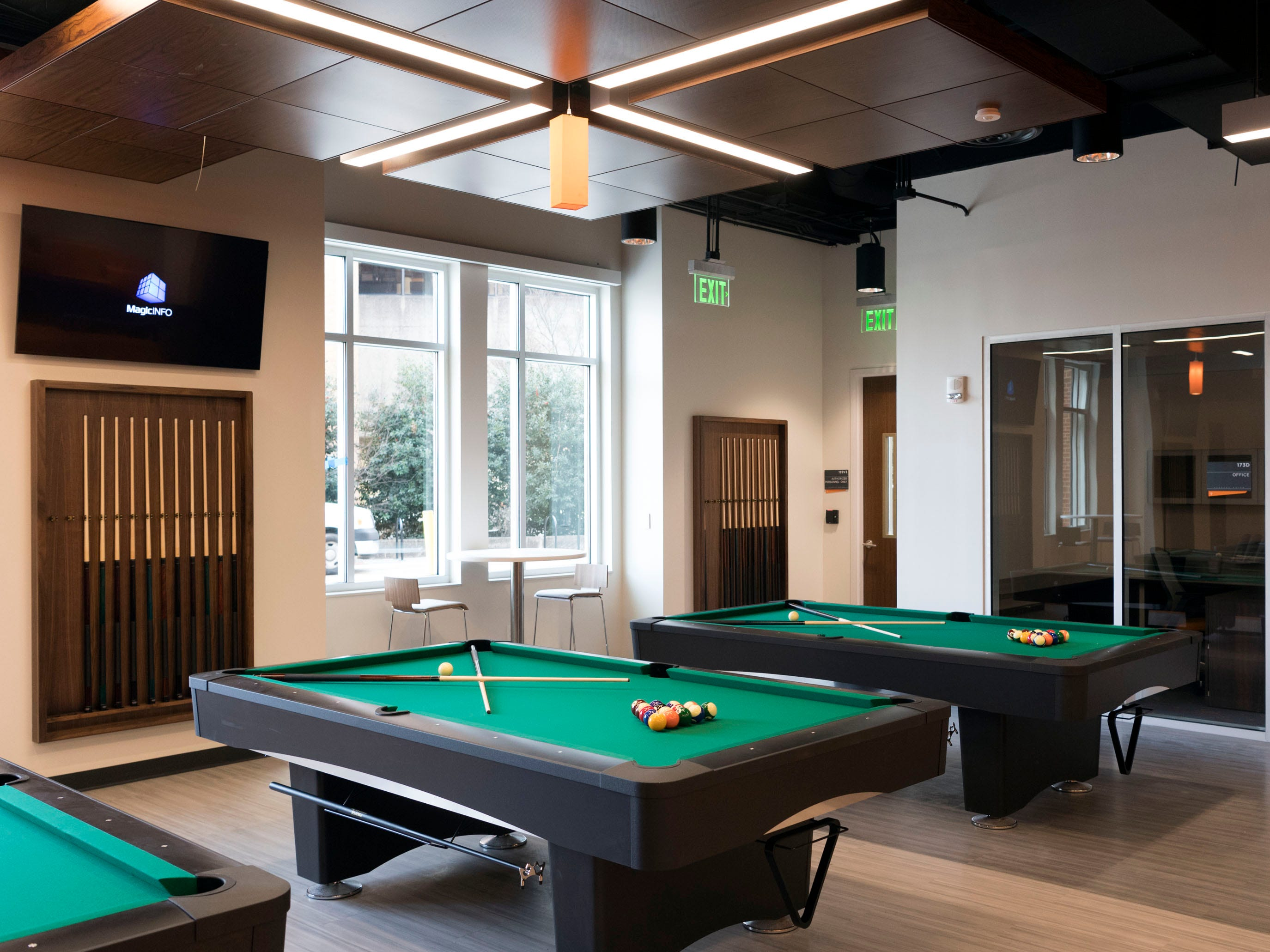 A recreation room at University of Tennessee's Student Union.
