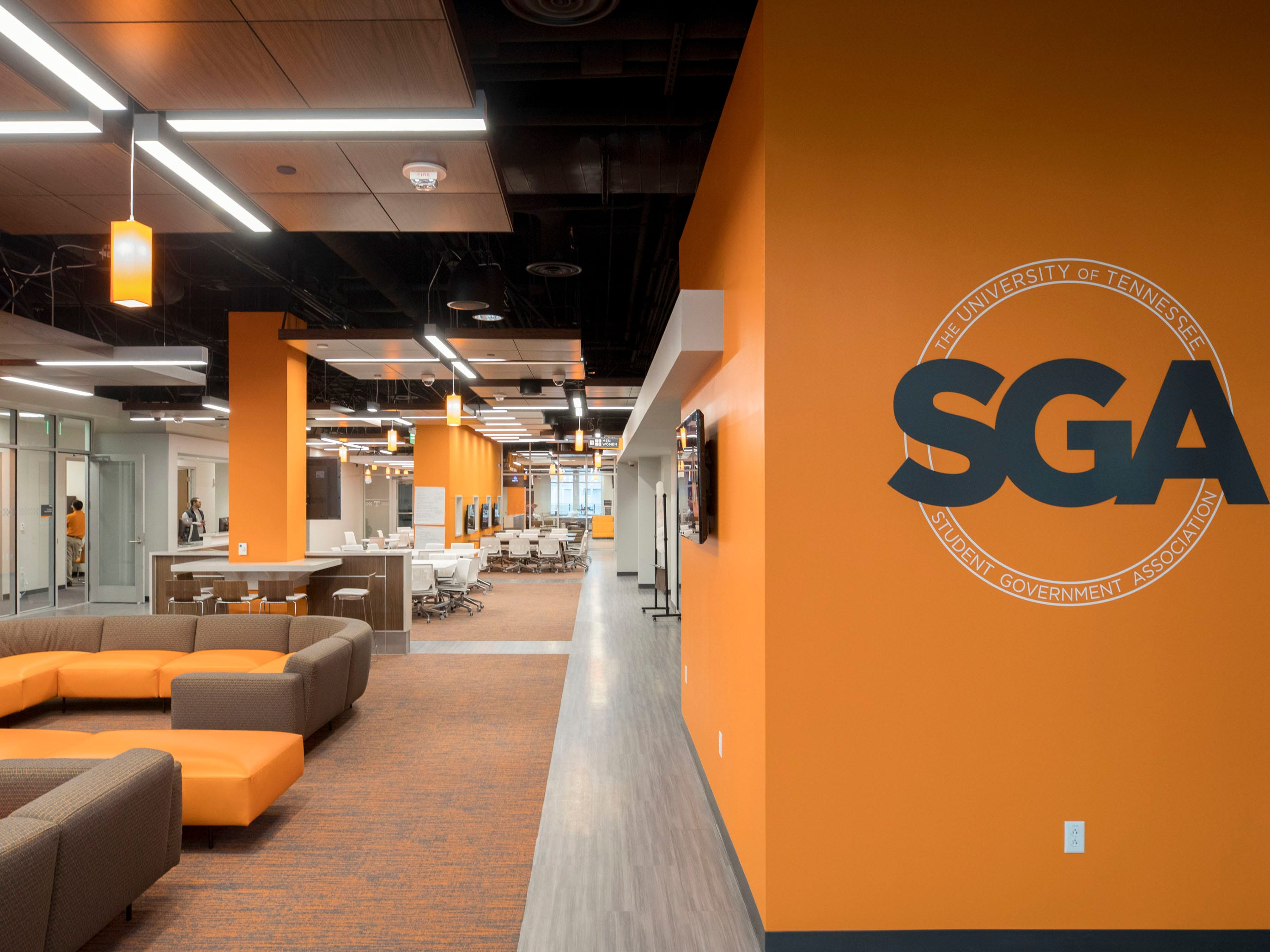 The office suites for the Student Government Association at University of Tennessee's Student Union.