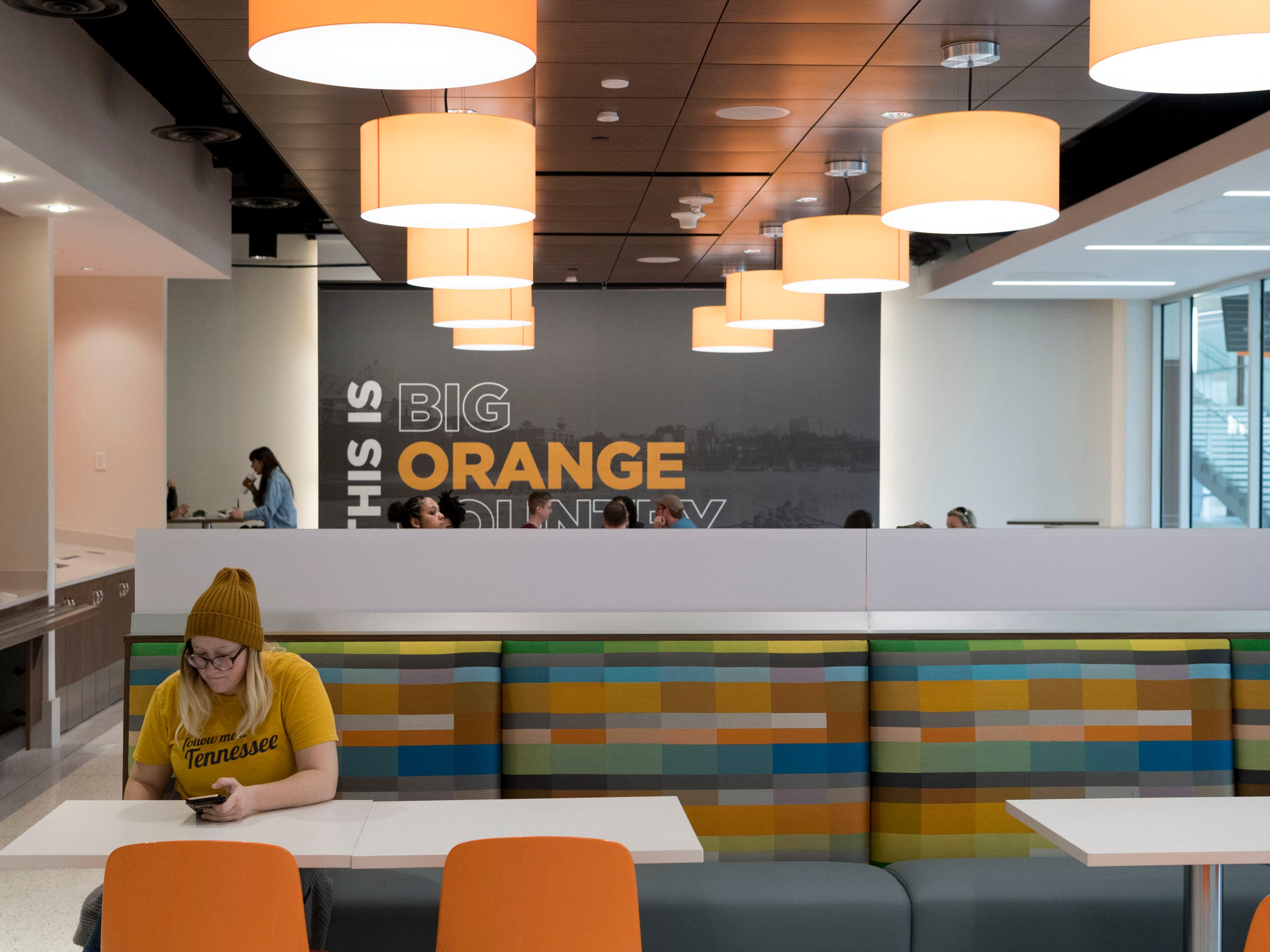 The dining area of the Steak 'n Shake eater inside UT's Student Union on Monday, January 7, 2019.