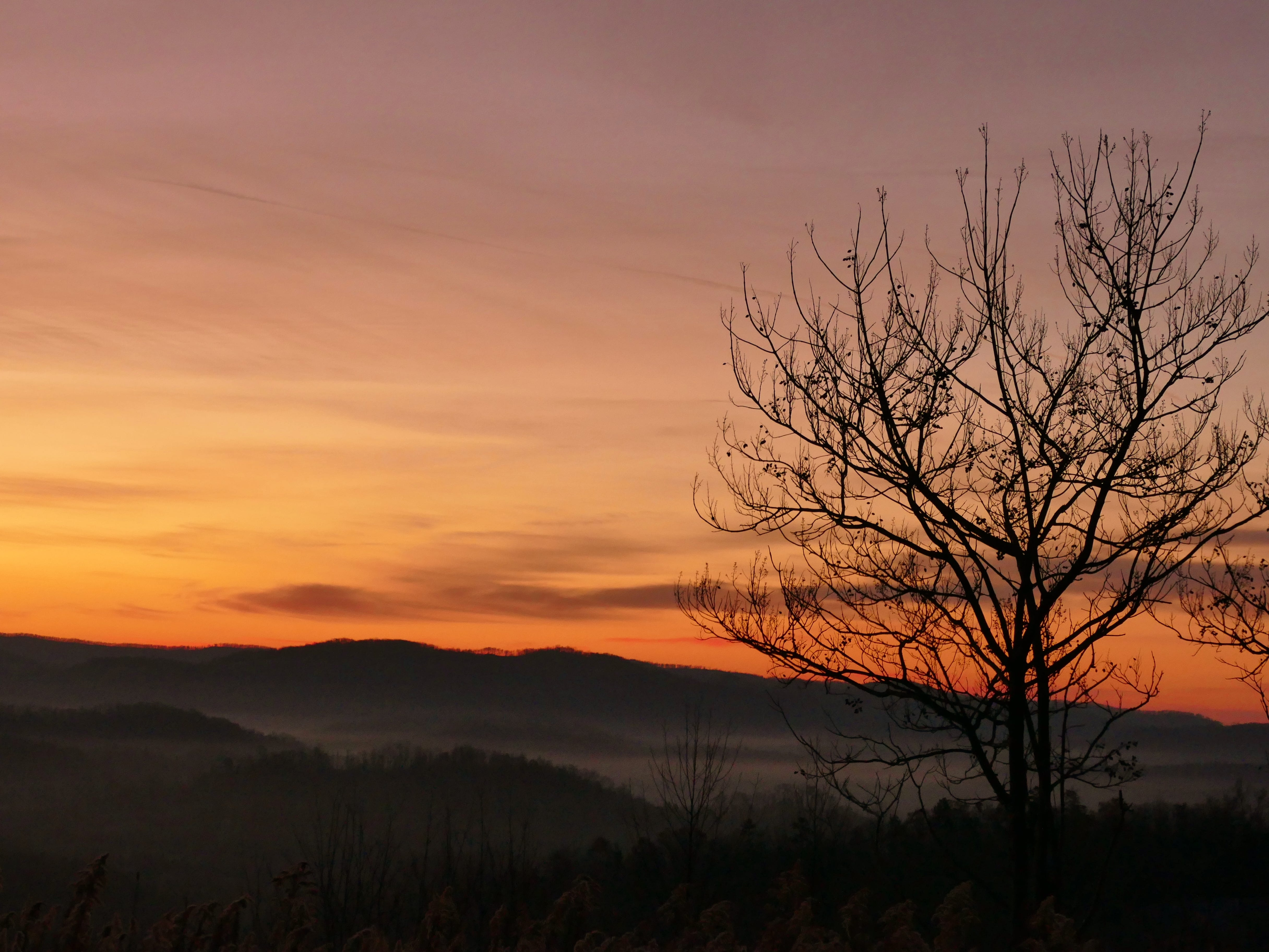 Monte Seymour photographed this sunrise near Jellico, Tenn. on the way to hike Vanhook Falls in Kentucky.