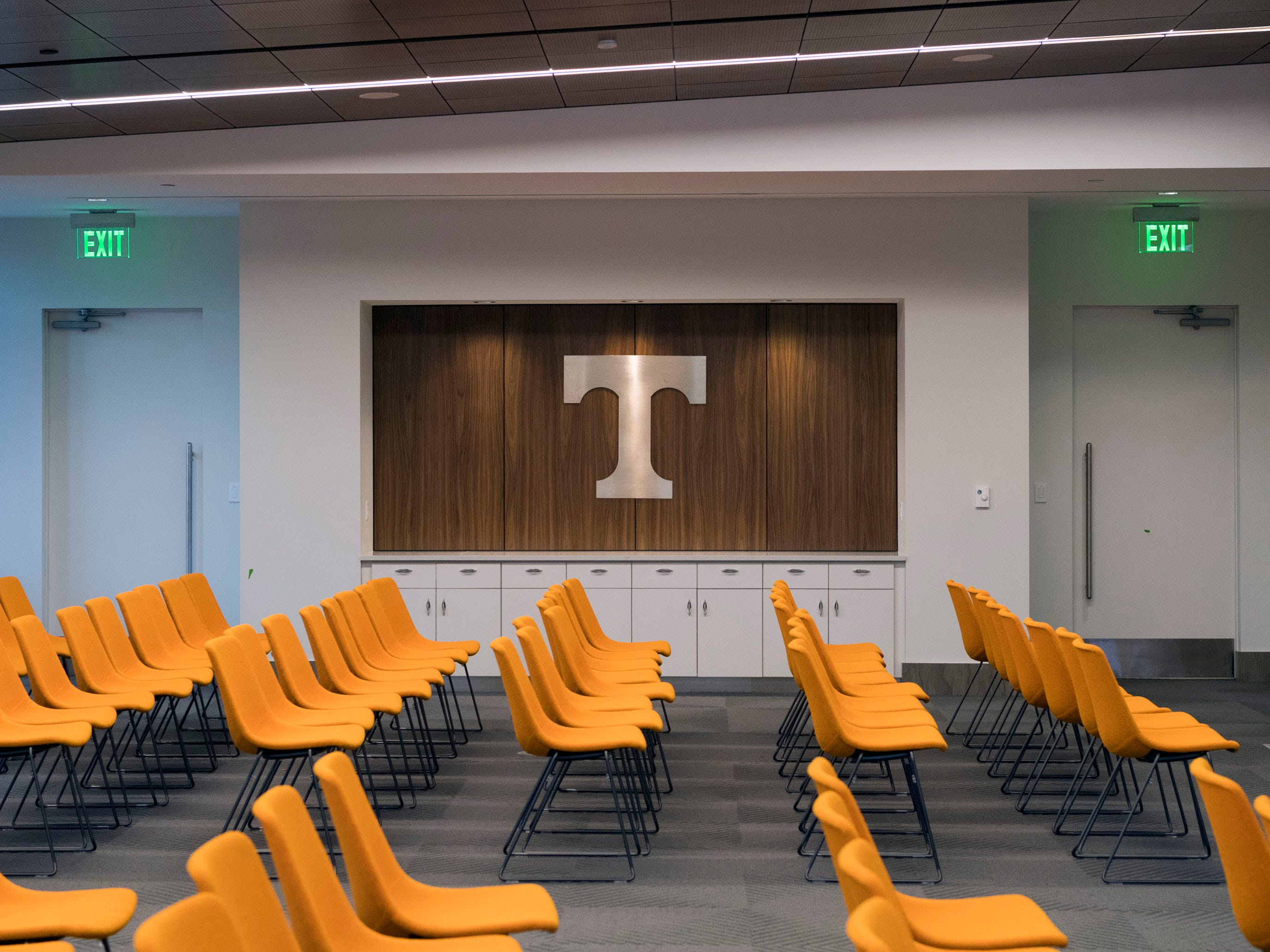 One of many meeting rooms of the newly opened Phase II of University of Tennessee's Student Union on Monday, January 7, 2019.