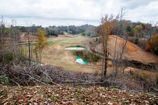 Looking out onto Tom Boyd's South Knoxville property on Wednesday, November 21, 2018. Boyd is planning on opening Ancient Lore Village at Boyd Hollow, a new 40-acre themed resort, on the property.