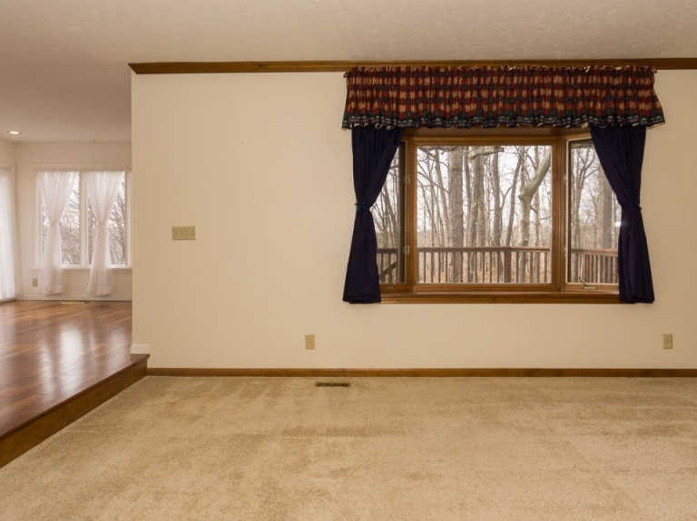 This five bedroom, three and a half bathroom home offers room to grow for any size of family.