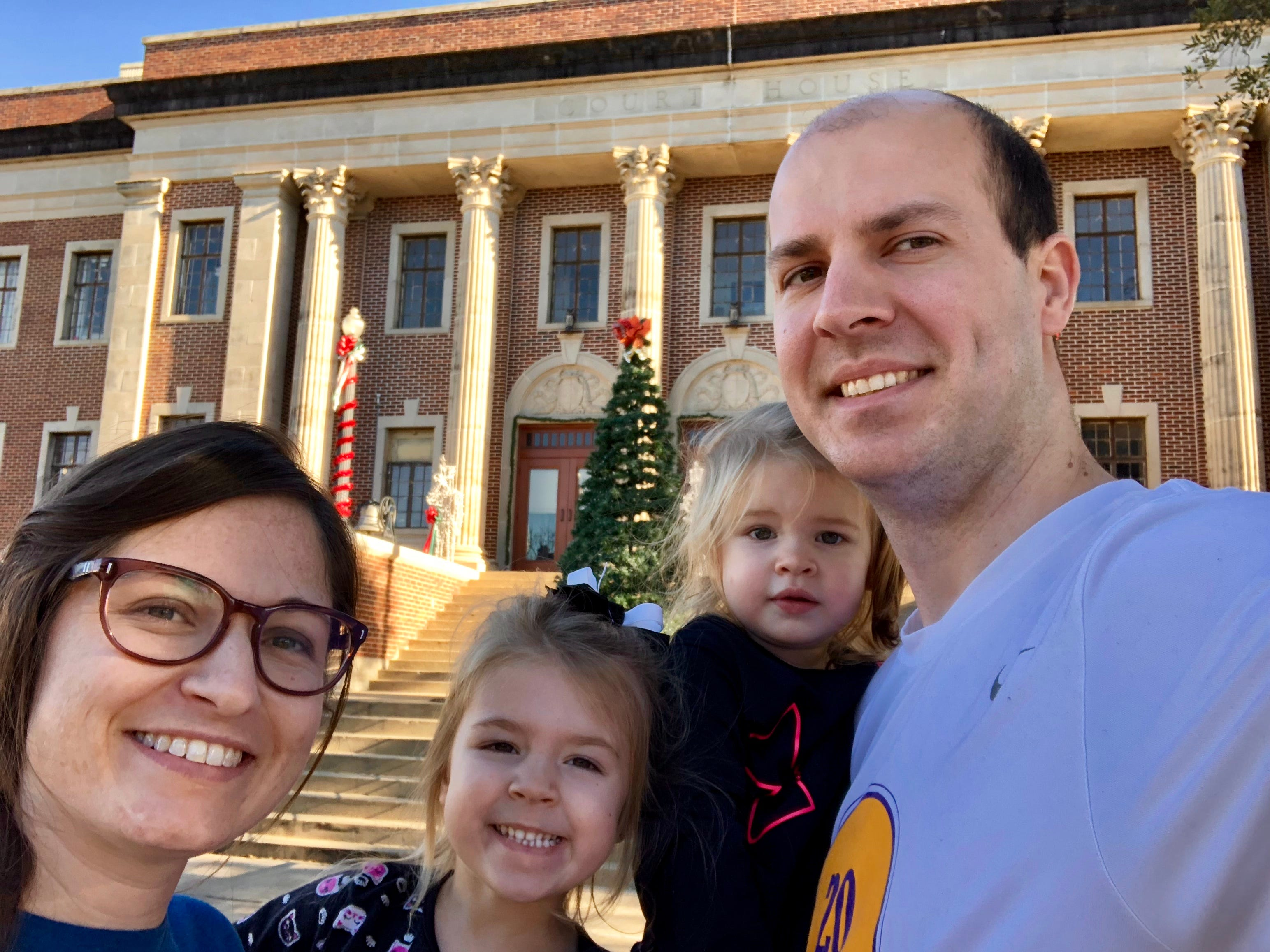 The Northup Trail ends at the historic courthouse in downtown Marksville. In the 1840s Solomun Northup was kidnapped as a free man black in New York and sold into slavery in Central Louisiana, where he lived for 12 years until he regained his freedom at this courthouse. Reporter Leigh Guidry and family followed the trail Saturday.