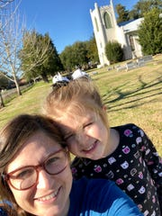 This Gothic Revival church built of handmade bricks in 1860 still stands in Cheneyville surrounded by historic graves. It is part of the Northup Trail, one of 18 Louisiana Byways designated by the state Office of Tourism. Reporter Leigh Guidry and daughter Avery, 4, snap a picture as they follow the trail Saturday.