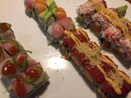 Sushi rolls are pictured at Sushi Masa.