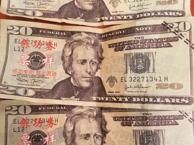 The Howell Police Department believes there are counterfeit $20 bills circulating around Howell. They encouraging residents to check the bills before accepting them.