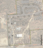 A conceptual plan shows how a proposed senior housing complex on Veterans Memorial Drive in Hamburg Township might be laid out.