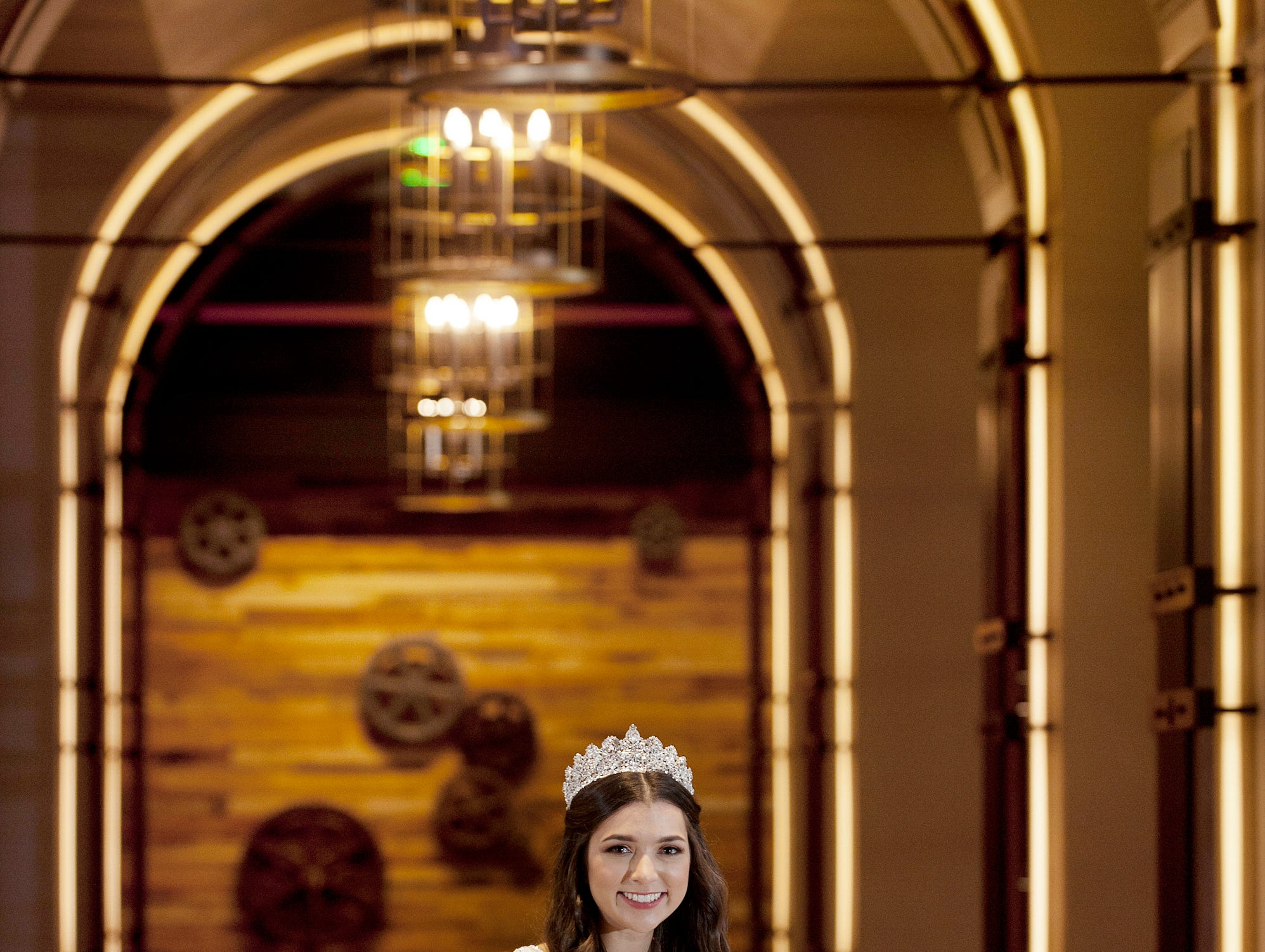 Kentucky Derby Festival Princess Mary Baker, 20, of Old Louisville, is a University of Louisville junior majoring in economics and finance. She was posing in the lobby of the Omni Louisville hotel. 06 January 2019