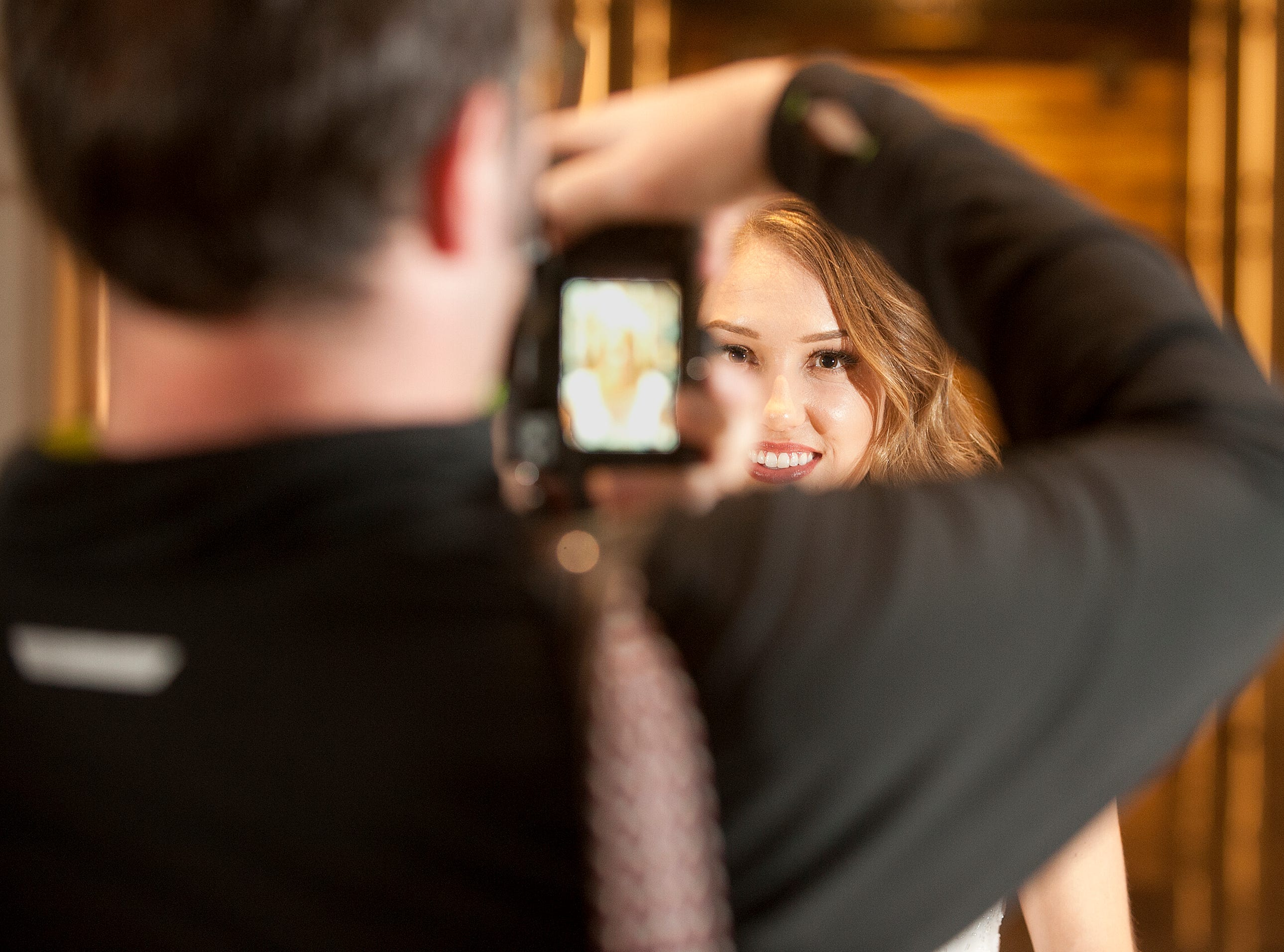 Kentucky Derby Festival Princess Elizabeth Seewer, 23, of the Springhurst neighborhood in Louisville, is in Bellarmine University's graduate physical therapy doctoral program. She is posing for official photographer Stephen Cohen, left. 06 January 2019