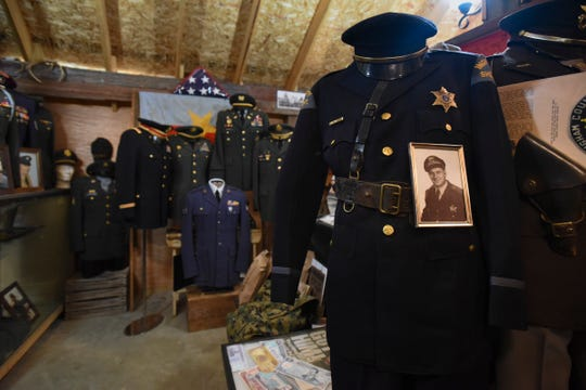 Five generations of Scott Shattuck's family have lived in his 131-year-old farmhouse. The property houses Shattuck's extensive collection of war memorabilia.