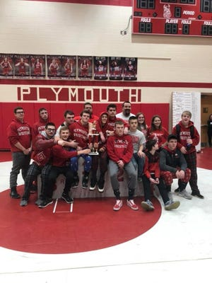 The Plymouth Big Red wrestling team won their home invite for the first time since 2009 despite no wrestler winning their weight class. In total, 12 of 13 Big Red wrestlers placed.