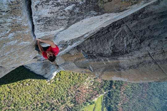 "A documentary about a man's attempt to ""free climb"" (without ropes or any other assistance) the sheer rock face of ""El Capitan"" in Yosemite National Park, ""Free Solo"" should be especially thrilling and terrifying when it opens Friday on the IMAX screen at the Paradiso."