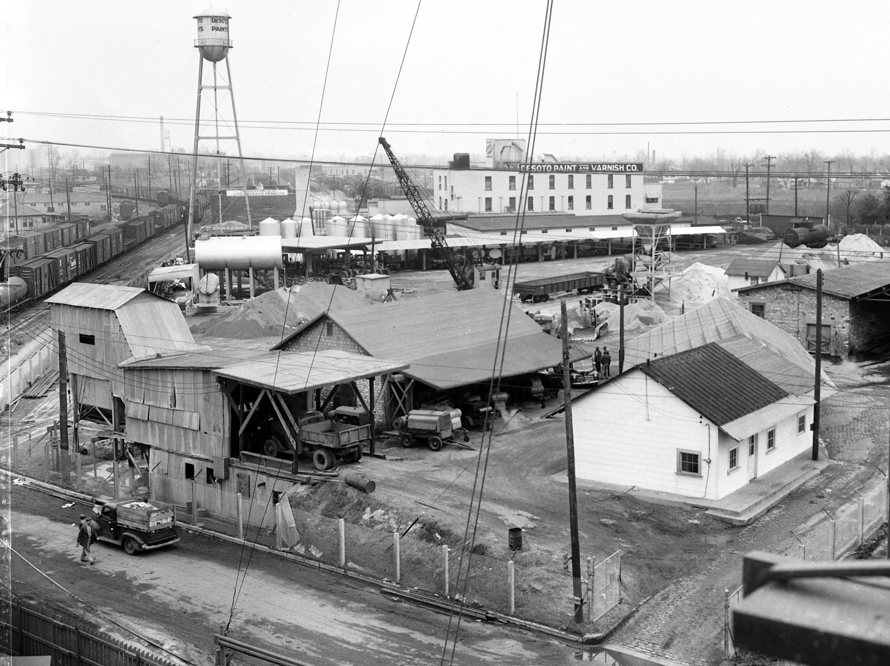 The city's asphalt plant at 1049 Sledge was one of the factors which had Mayor Watkins Overton and the other four city commissioners in a bitter City Hall feud in February 1951.  Mayor Overton was accused of, but denied, offering the plant site for sale without informing the other city commissioners of negotiations.  The $40,000 offer by Sears, Roebuck & Co. was turned down by Commissioner Williams, who valued the plant replacement at more than $107,000.