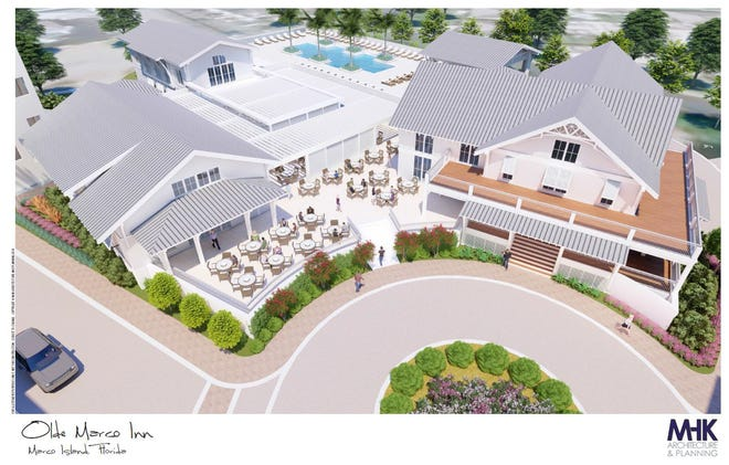 A continuance for the rezoning hearing of the Olde Marco Inn has been continued to a later date. The hotel had announced plans to renovate and upgrade its existing facilities.