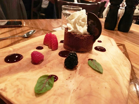 The chocolate and Nutella semifreddo at The Oyster Society, Marco Island.