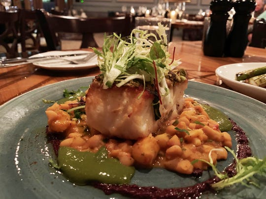 The Chilean Sea Bass at The Oyster Society, Marco Island.