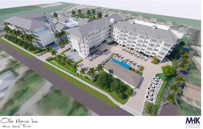 Marco Island city staff have shelved the rezoning application for the Olde Marco Inn, finding that its planned unit development proposal is nonconforming.