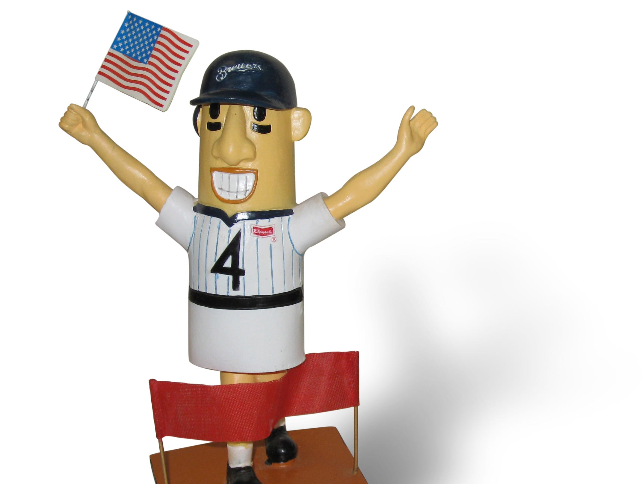Milwaukee Brewers' Hot Dog sausage bobblehead