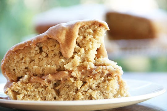 This spice cake has a cup of grated raw rutabaga.