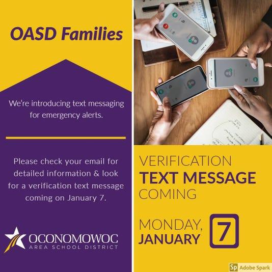 Oconomowoc Area School District Text Messaging Alerts