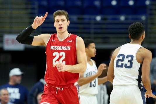 Ncaa Basketball Wisconsin At Penn State