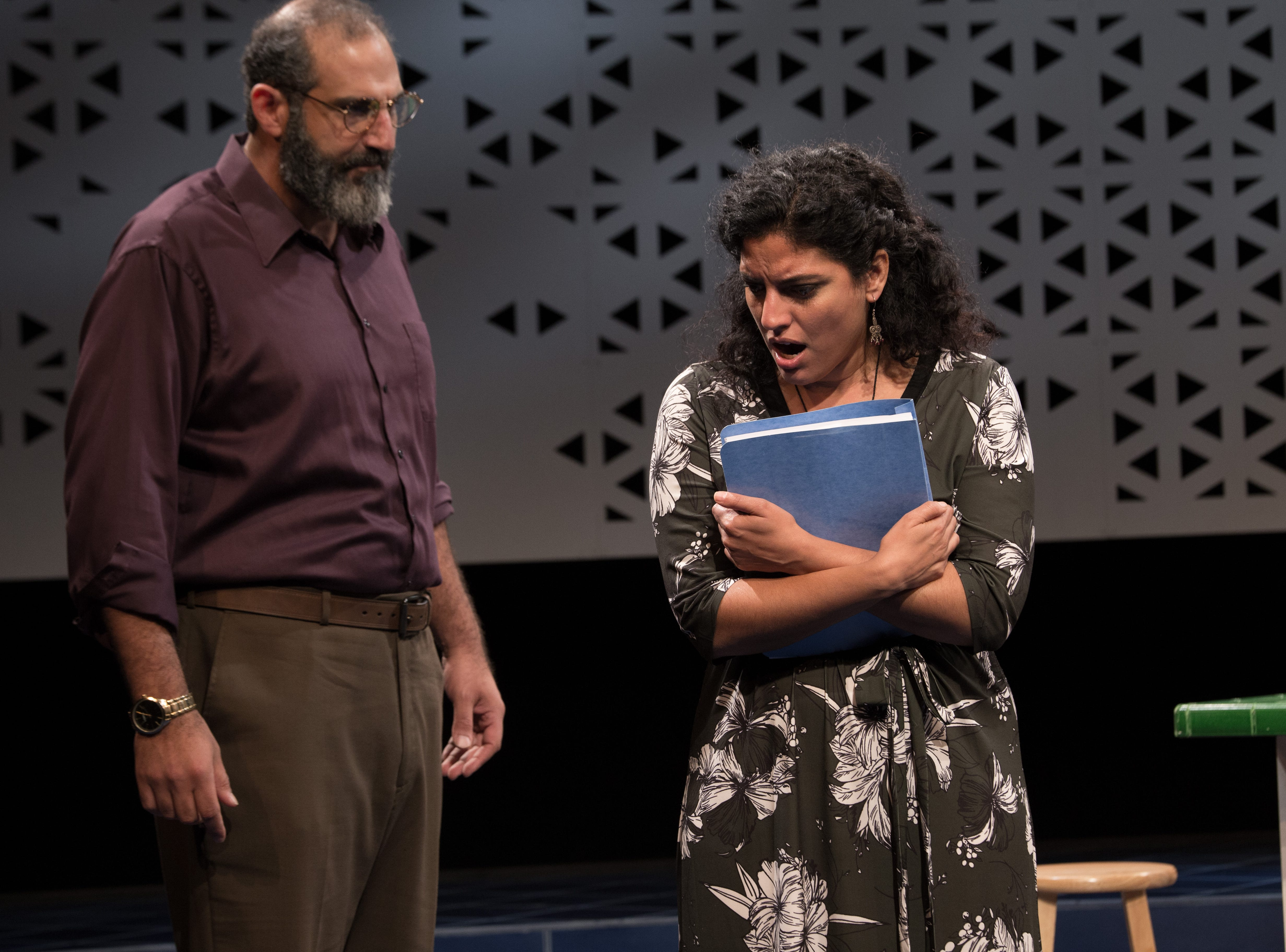 "Brian Abraham and Soraya Broukhim have words in Ayad Akhtar's ""The Who and the What."""