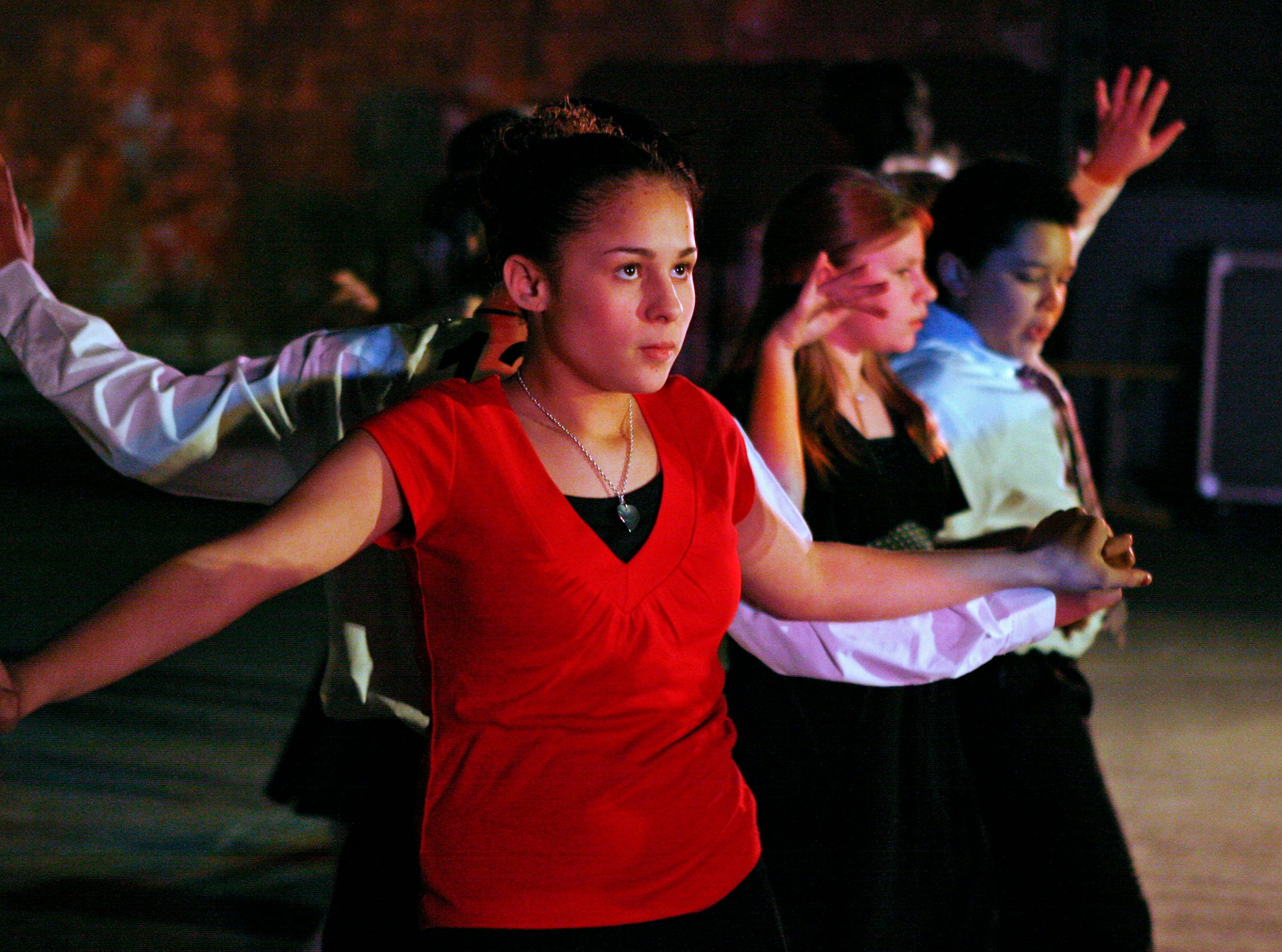 2007: Vieau Elementary 6th graders Charleen Garcia and her partner Miguel Ramirez dance the Rumba at Turner Hall on Jan. 17, 2007.  Nearly 300 students participated in a showcase (tap-dancing) and competition (ballroom dancing) as part of the pilot Mad Hot Ballroom competition.