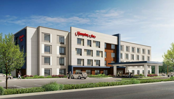 The North Shore Event Centre, 7065 N. Port Washington Road, will be demolished to make room for this four-story, 90-room Hampton Inn hotel.
