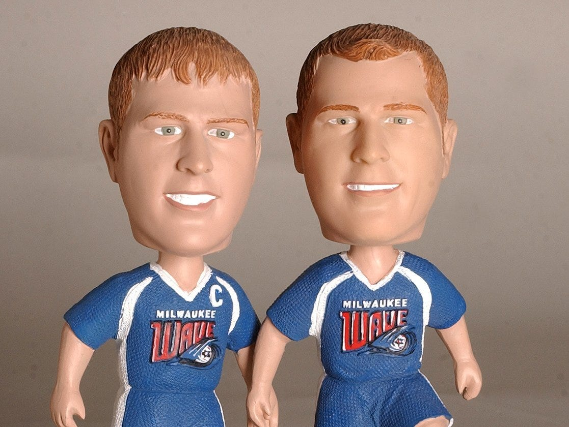 Milwaukee Wave fan favorites Todd and Troy Dusosky