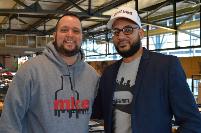 Scott Skibosh and Evan Nevels of Beer Me. Waukee, a beer-inspired Milwaukee apparel brand, are hosting a small business winter vendor event at the Waukesha County Expo Center Jan. 19.